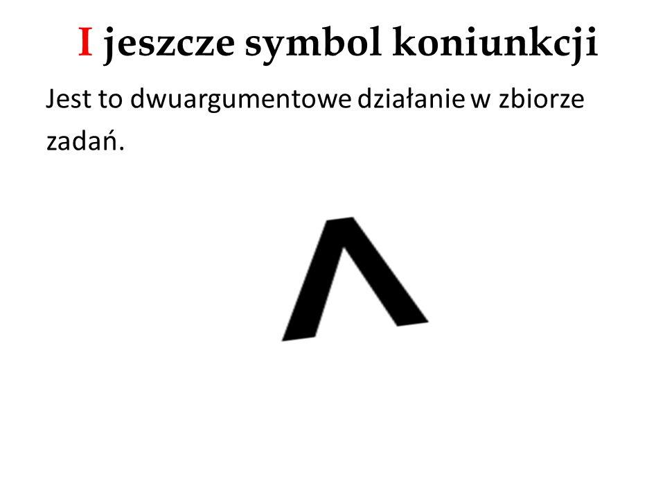 I jeszcze symbol koniunkcji