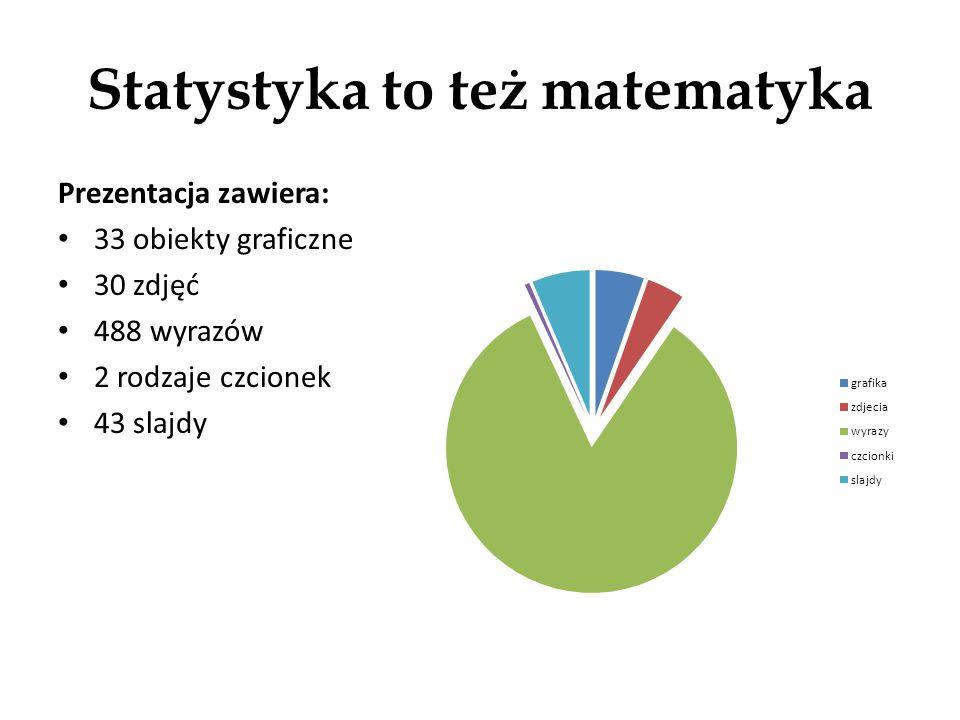 Statystyka to też matematyka