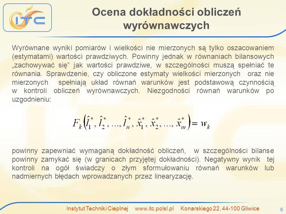 Ocena dokładności obliczeń wyrównawczych
