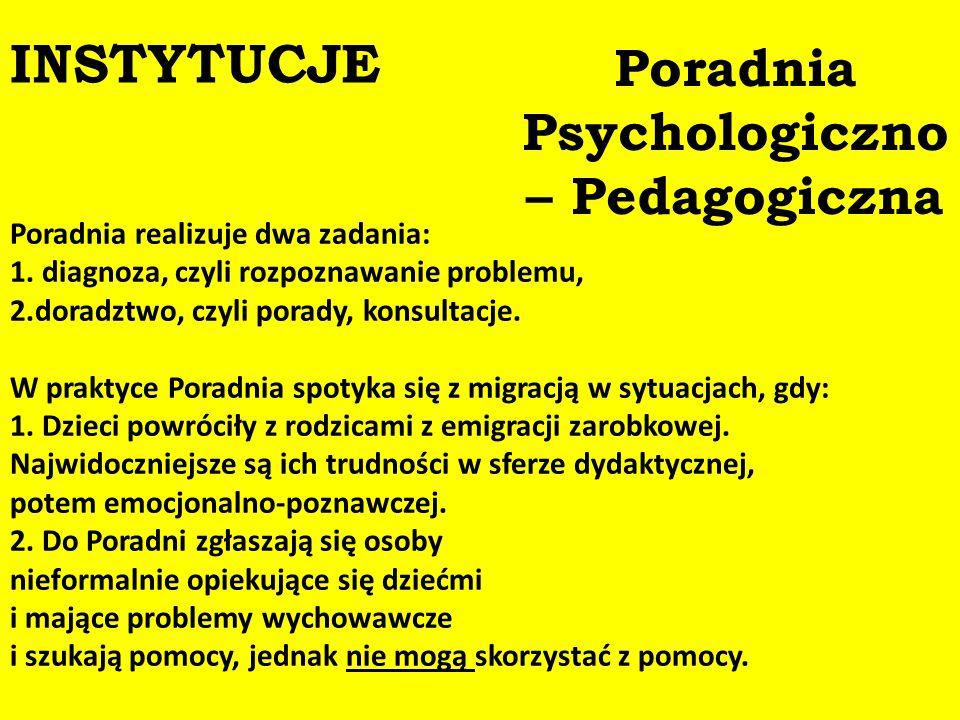 Poradnia Psychologiczno – Pedagogiczna