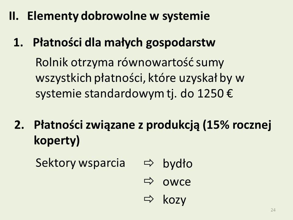 Elementy dobrowolne w systemie