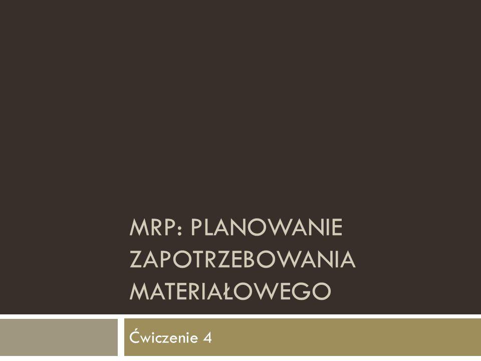 MRP: planowanie zapotrzebowania materiałowego