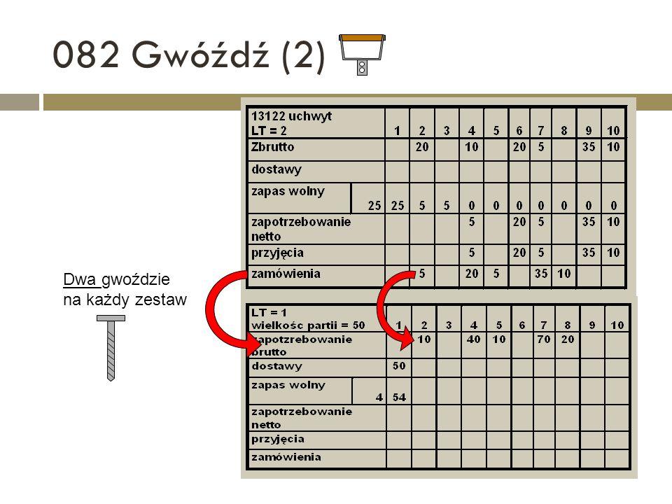 082 Gwóźdź (2) Dwa gwoździe na każdy zestaw