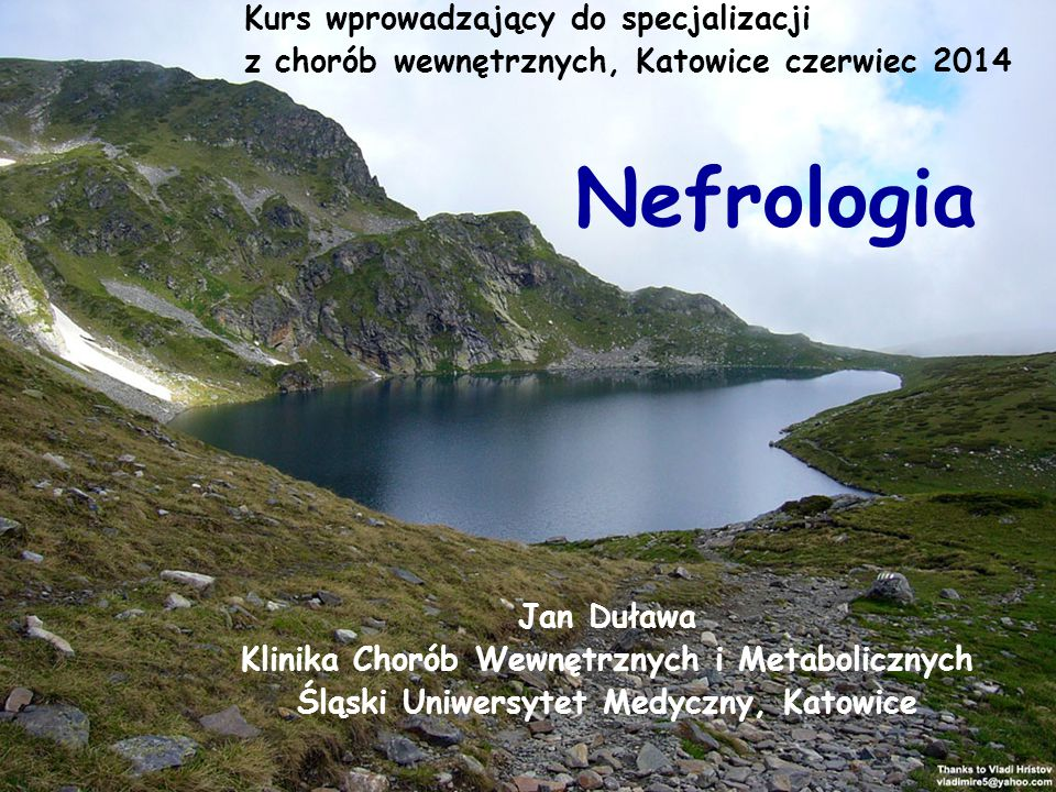 Nefrologia Kurs wprowadzający do specjalizacji