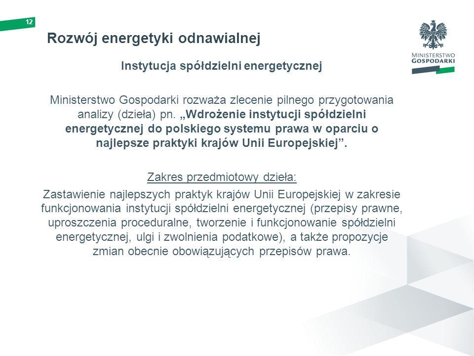 Rozwój energetyki odnawialnej