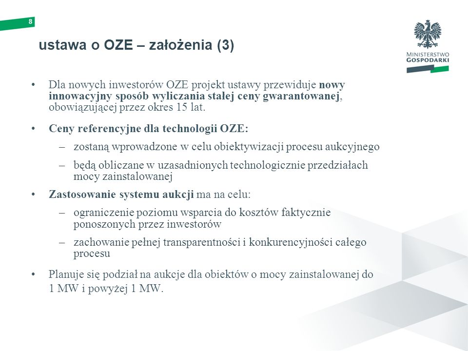 ustawa o OZE – założenia (3)