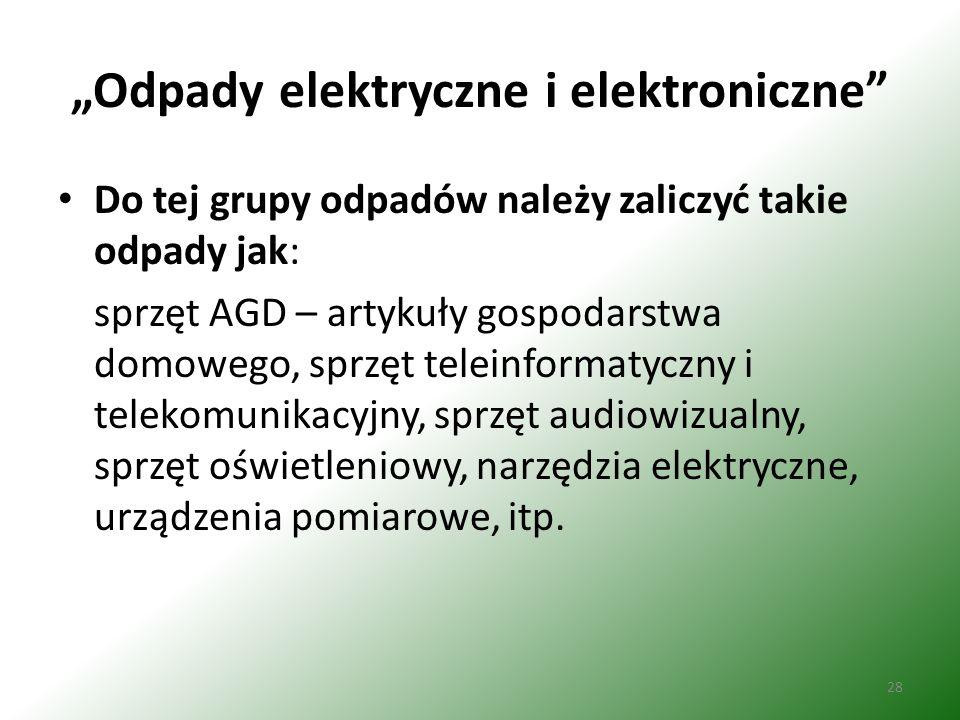 """""""Odpady elektryczne i elektroniczne"""