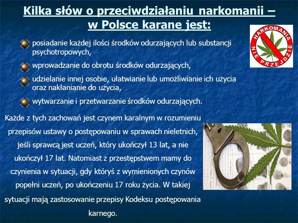 Kilka słów o przeciwdziałaniu narkomanii – w Polsce karane jest: