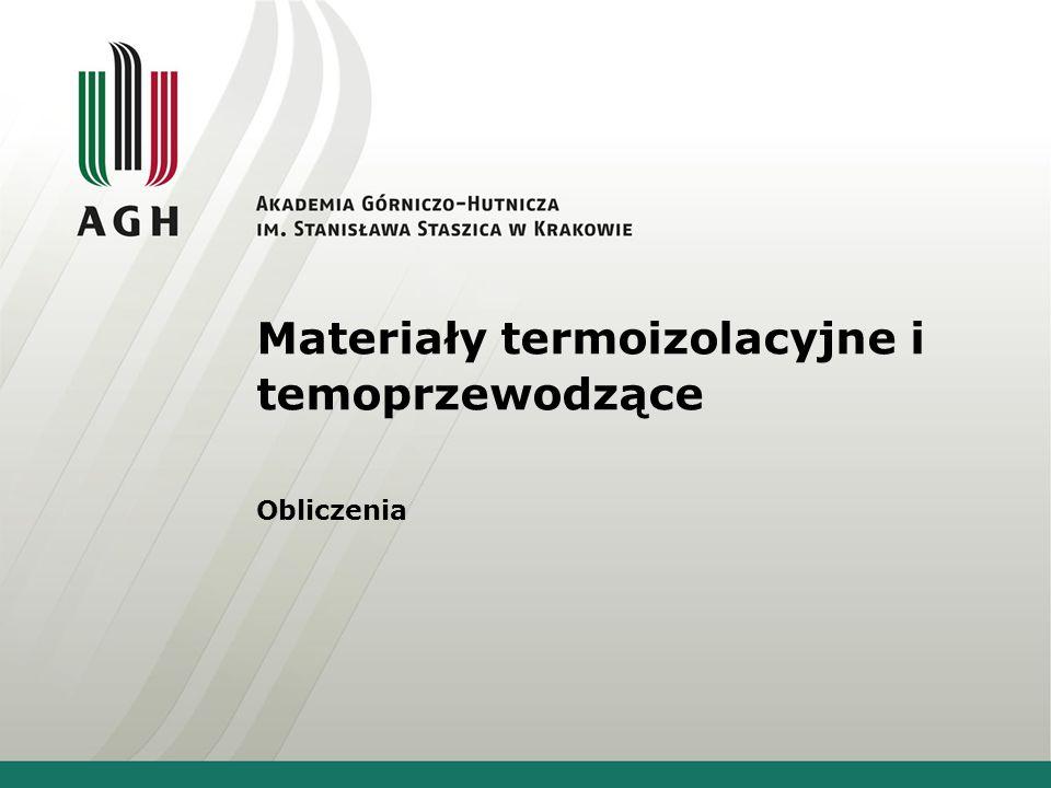 Materiały termoizolacyjne i temoprzewodzące