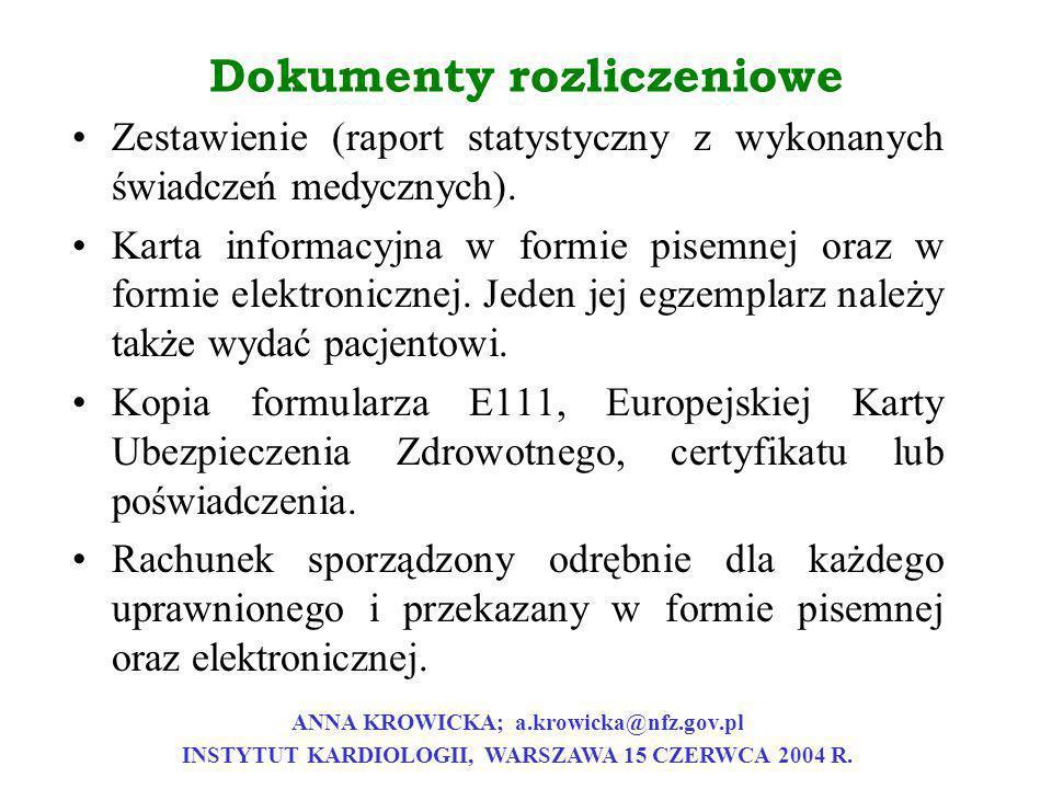 Dokumenty rozliczeniowe