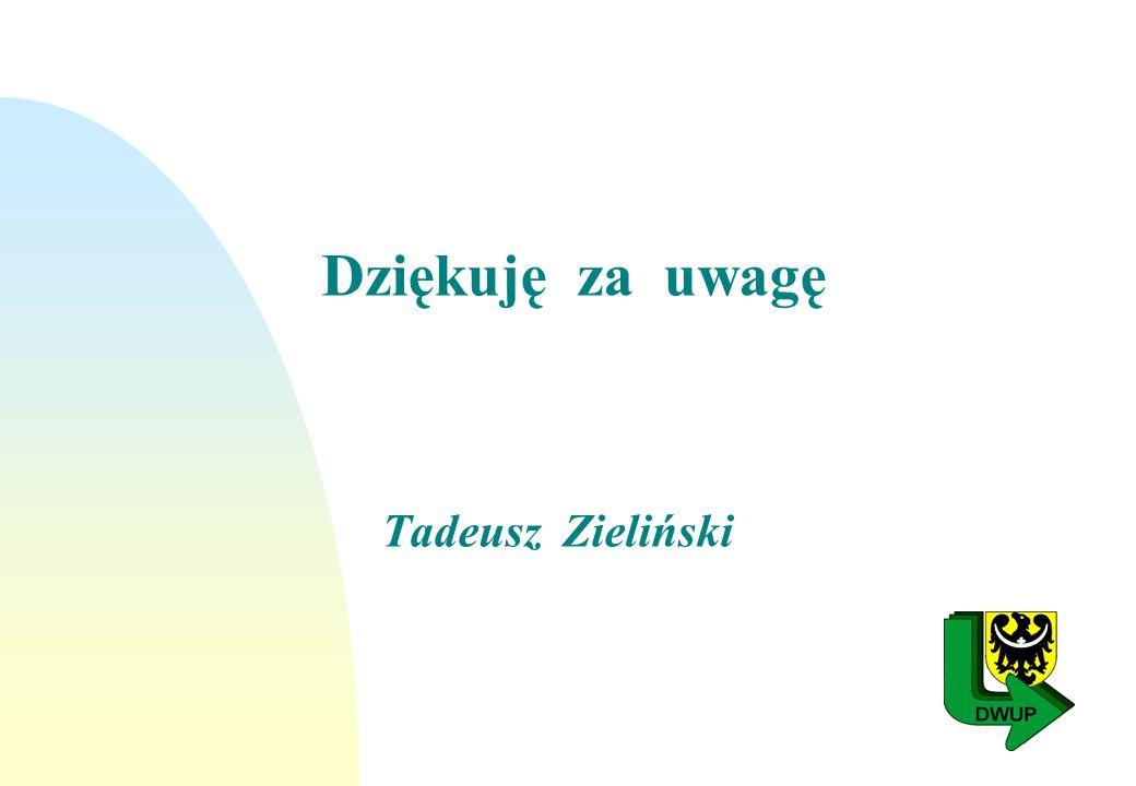 Dziękuję za uwagę Tadeusz Zieliński
