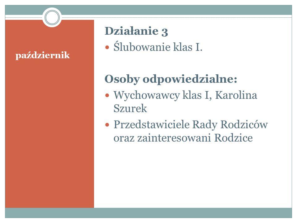 Osoby odpowiedzialne: Wychowawcy klas I, Karolina Szurek