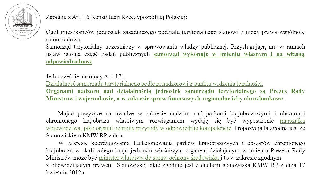 Zgodnie z Art. 16 Konstytucji Rzeczypospolitej Polskiej: