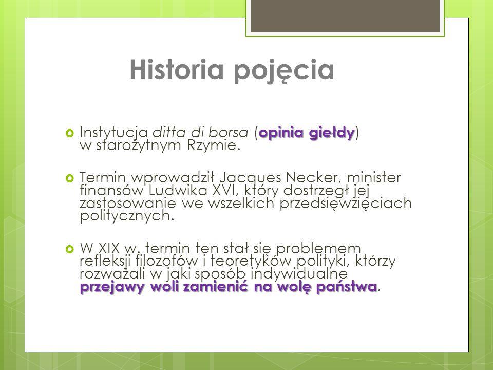 Historia pojęcia Instytucja ditta di borsa (opinia giełdy) w starożytnym Rzymie.