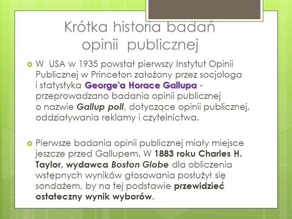 Krótka historia badań opinii publicznej