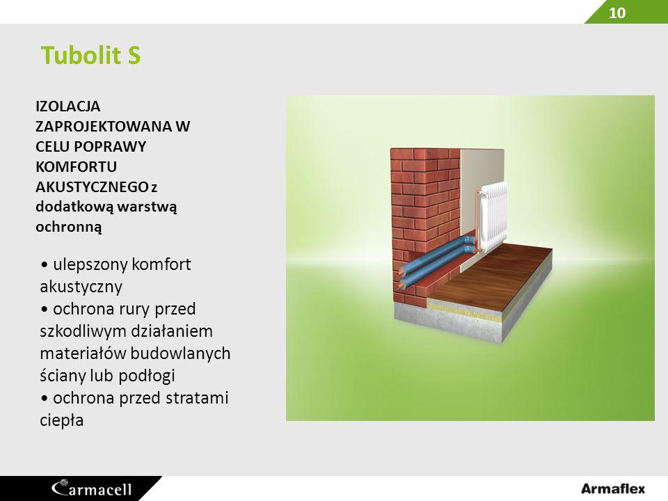 Tubolit S • ulepszony komfort akustyczny