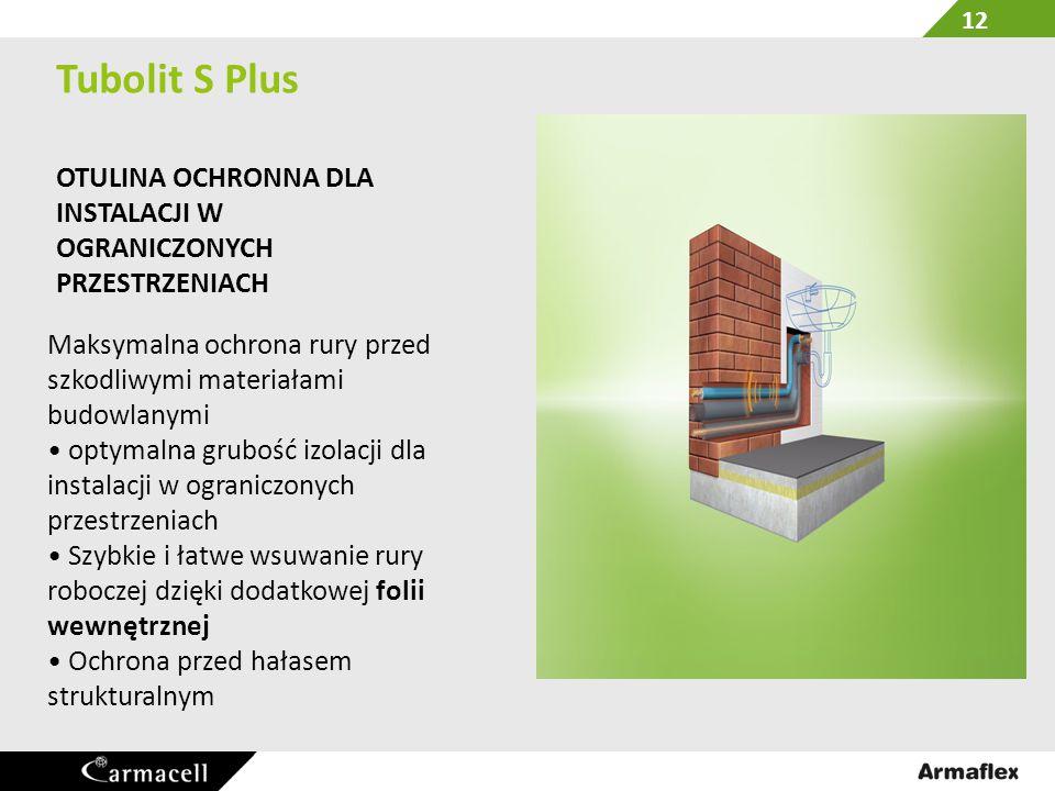 Tubolit S Plus OTULINA OCHRONNA DLA INSTALACJI W OGRANICZONYCH PRZESTRZENIACH. Maksymalna ochrona rury przed szkodliwymi materiałami budowlanymi.