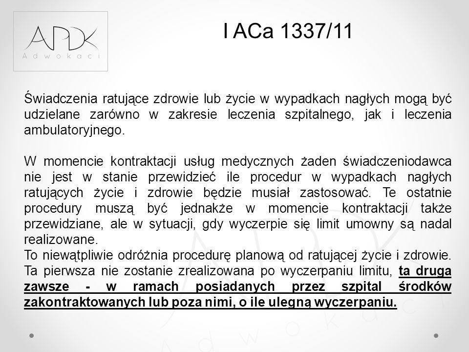 I ACa 1337/11
