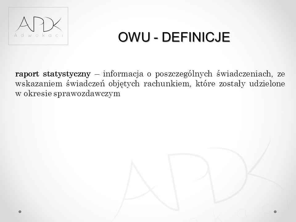 OWU - DEFINICJE