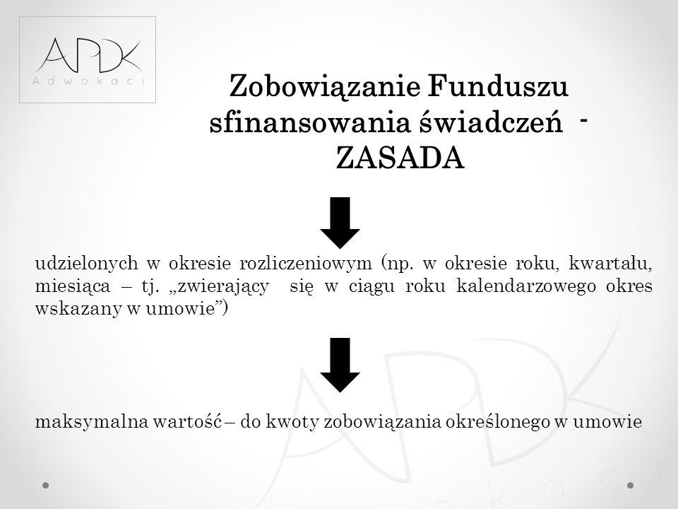 Zobowiązanie Funduszu sfinansowania świadczeń - ZASADA