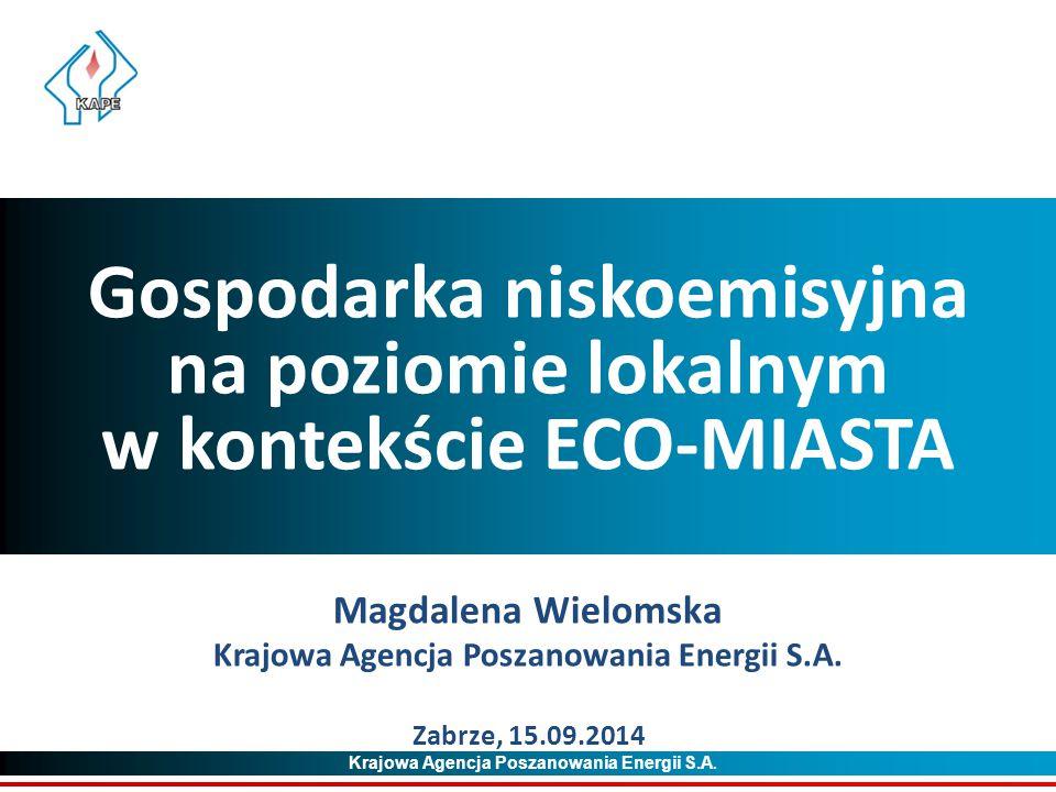 Gospodarka niskoemisyjna na poziomie lokalnym w kontekście ECO-MIASTA