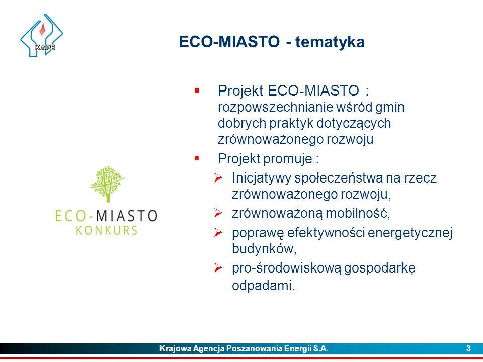 ECO-MIASTO - tematyka Projekt ECO-MIASTO : rozpowszechnianie wśród gmin dobrych praktyk dotyczących zrównoważonego rozwoju.