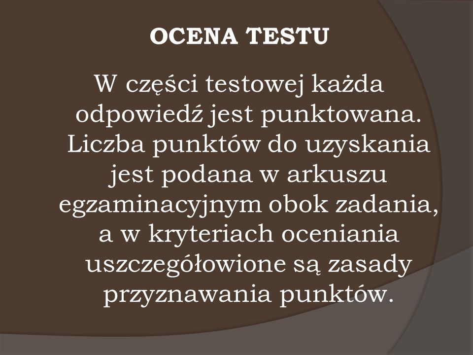 OCENA TESTU