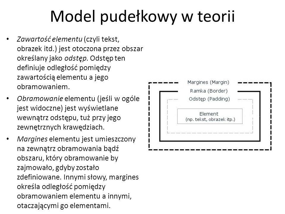 Model pudełkowy w teorii
