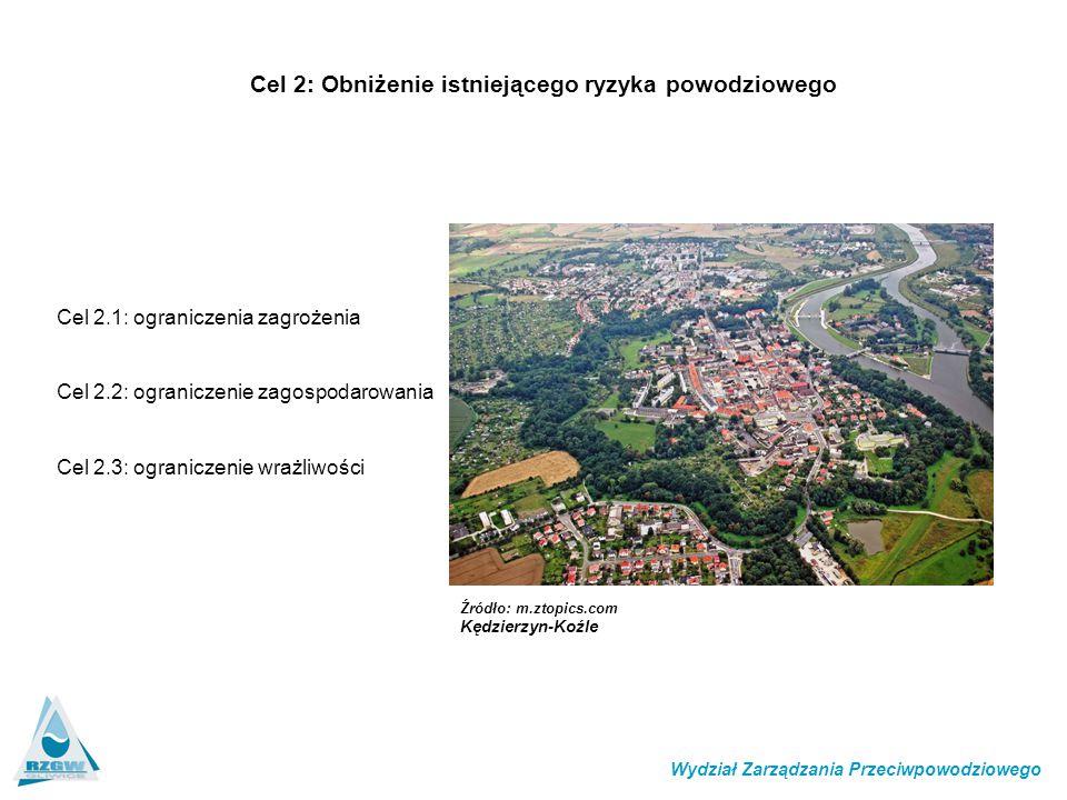 Cel 2: Obniżenie istniejącego ryzyka powodziowego
