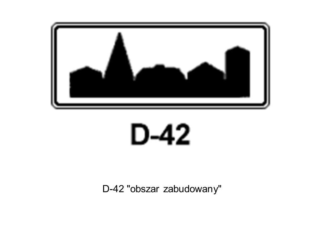 D-42 obszar zabudowany