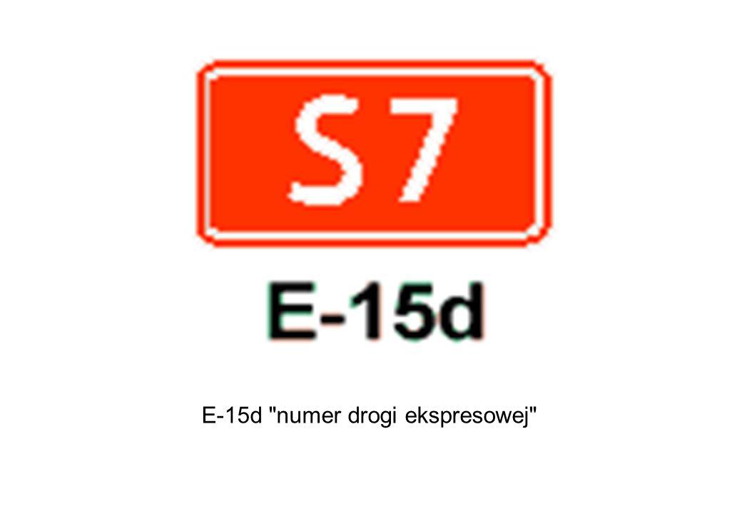 E-15d numer drogi ekspresowej