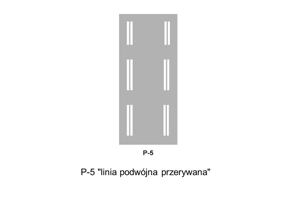 P-5 linia podwójna przerywana