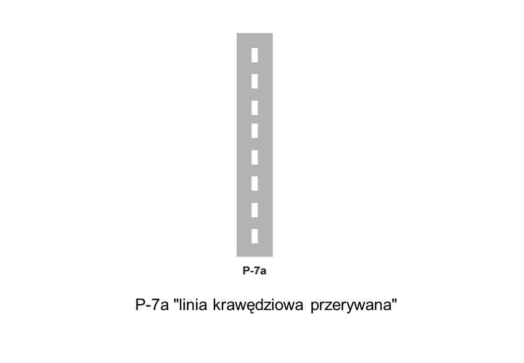 P-7a linia krawędziowa przerywana