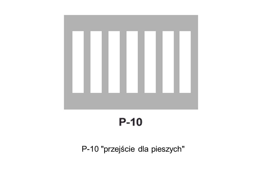 P-10 przejście dla pieszych