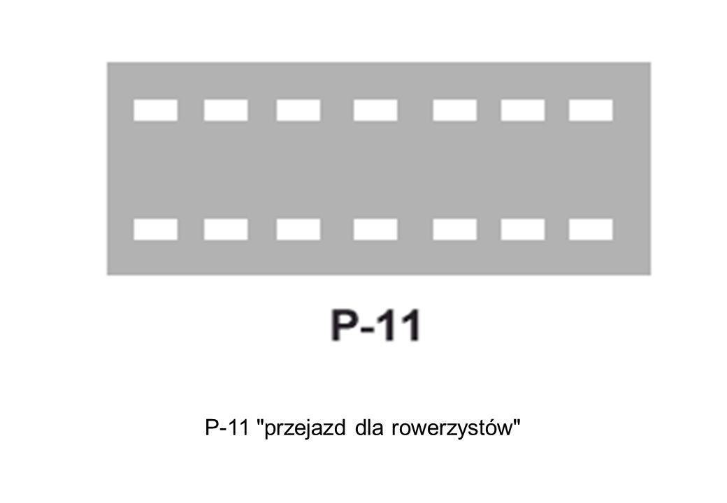 P-11 przejazd dla rowerzystów