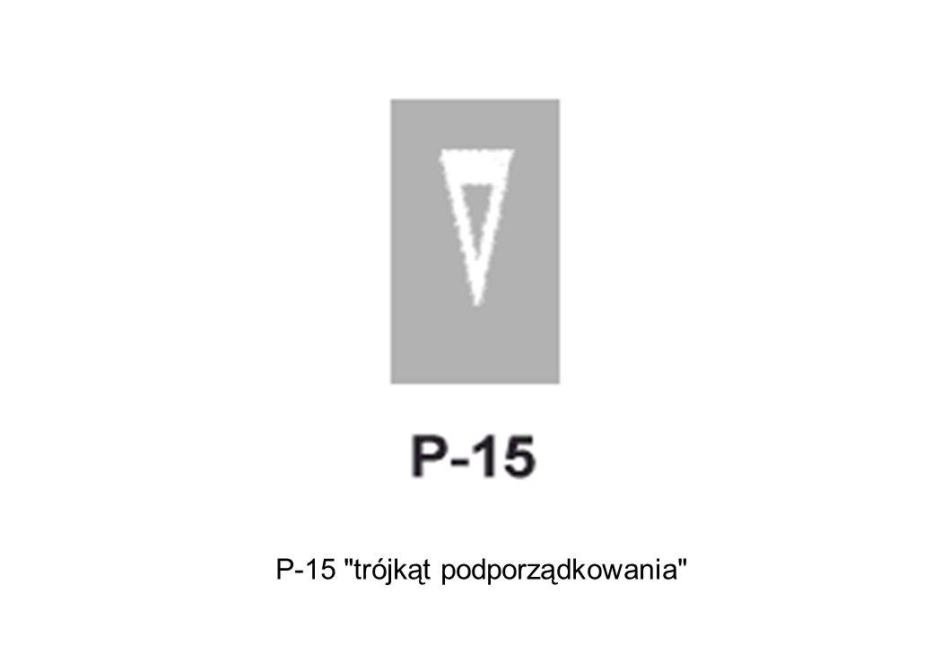P-15 trójkąt podporządkowania