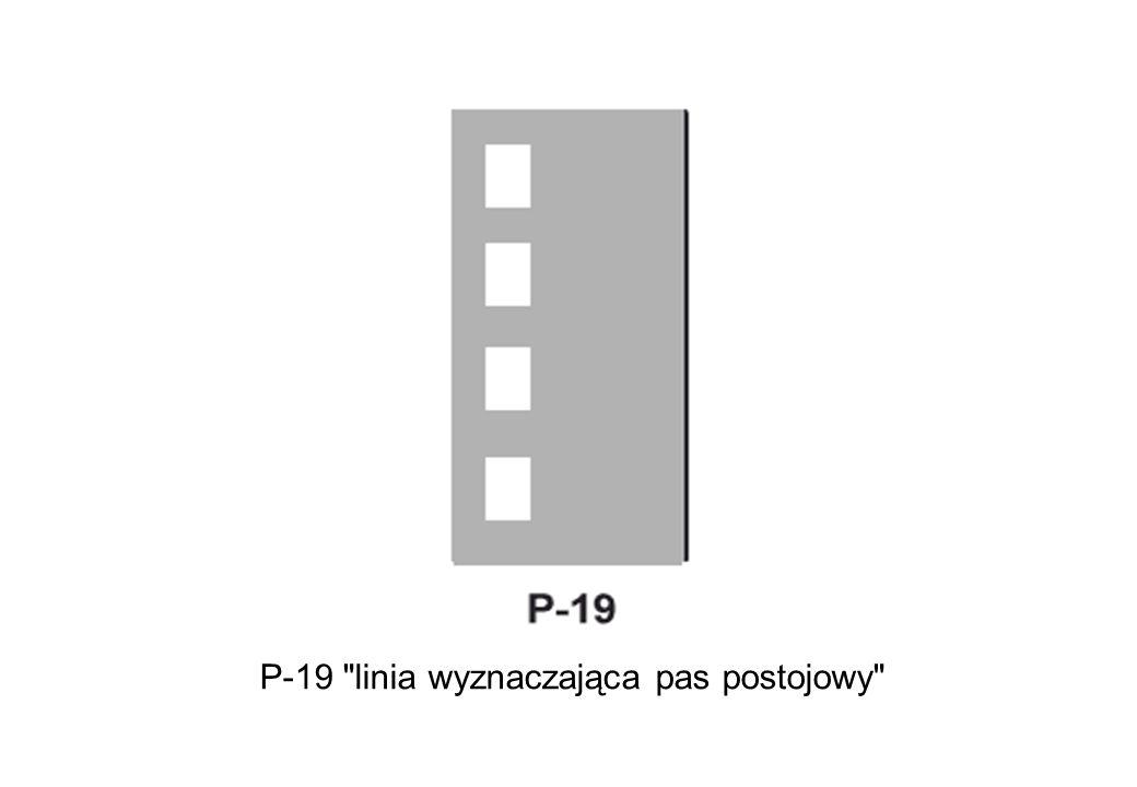 P-19 linia wyznaczająca pas postojowy