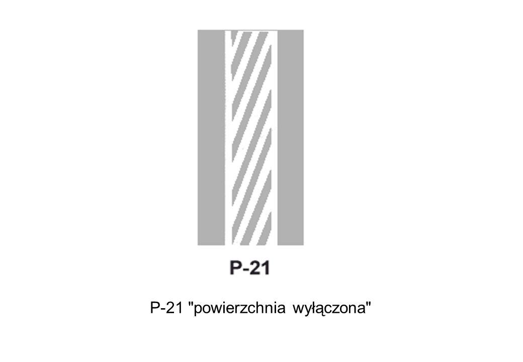 P-21 powierzchnia wyłączona