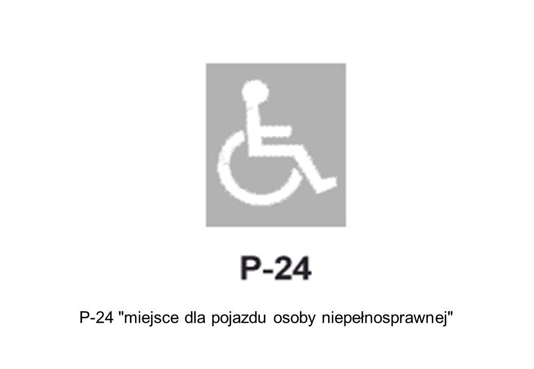 P-24 miejsce dla pojazdu osoby niepełnosprawnej