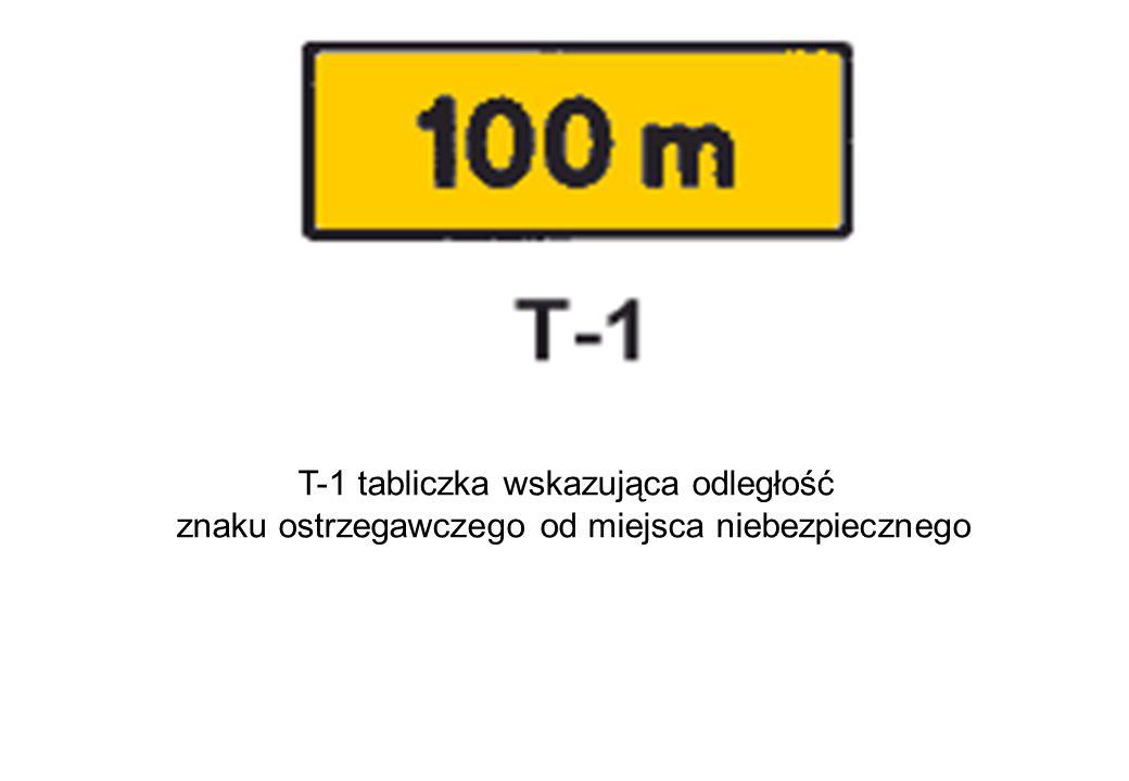 T-1 tabliczka wskazująca odległość