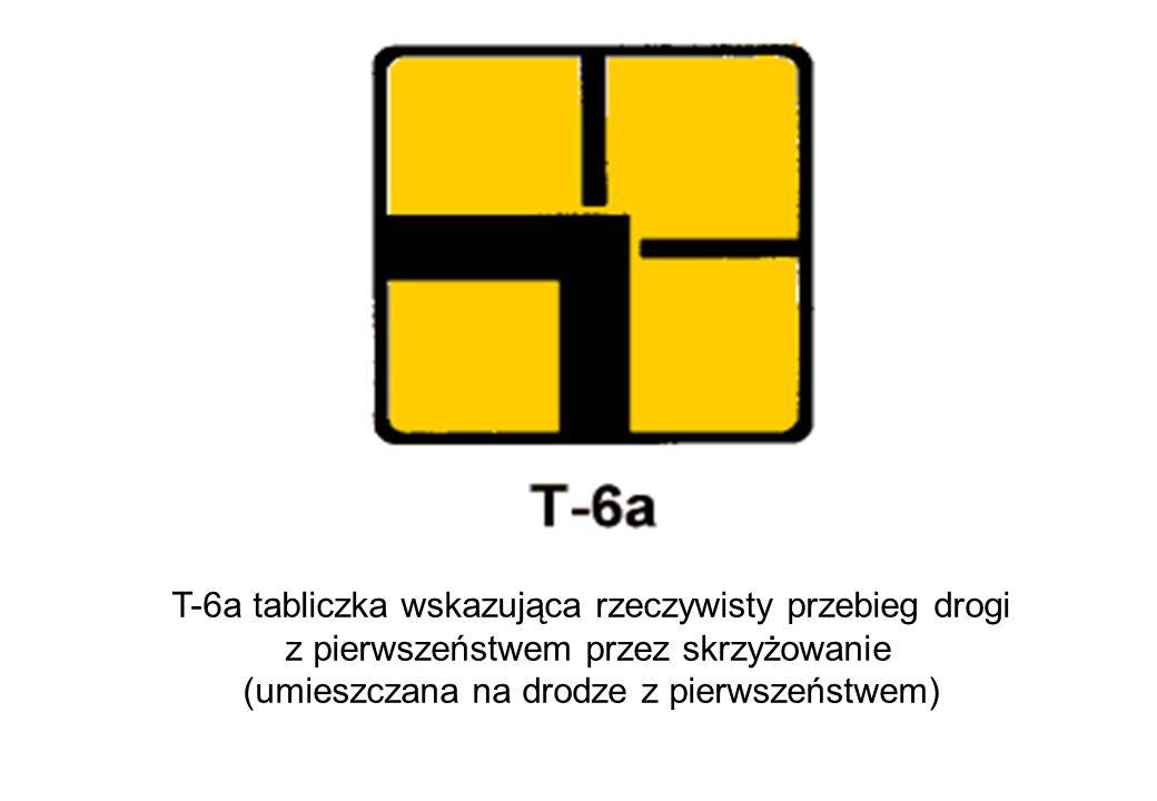T-6a tabliczka wskazująca rzeczywisty przebieg drogi
