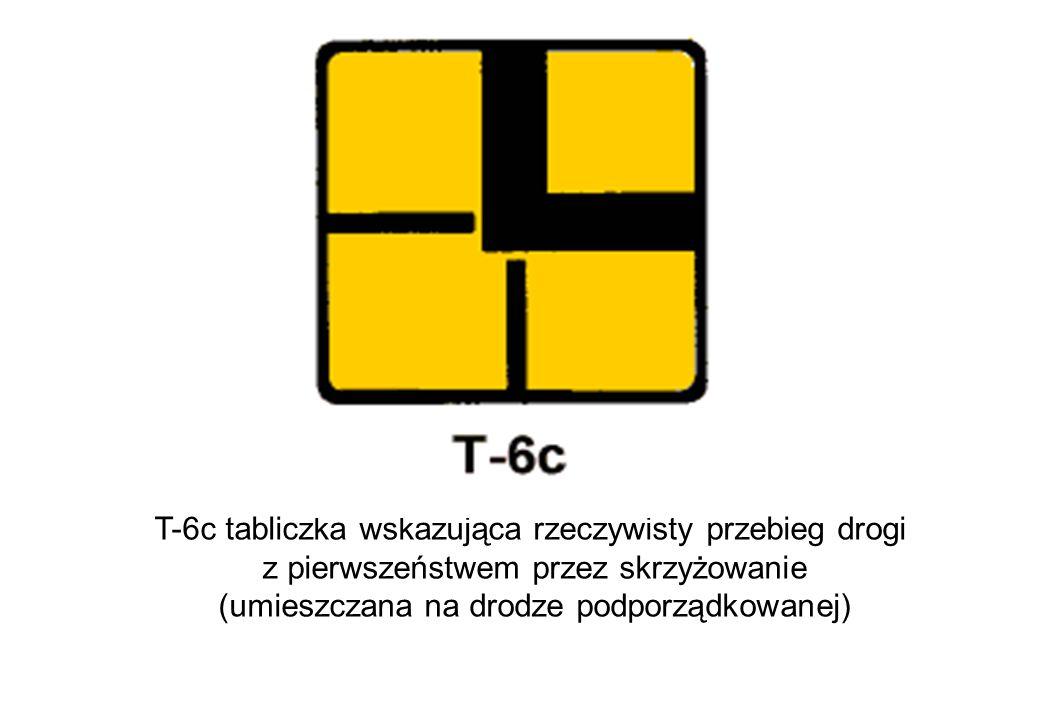 T-6c tabliczka wskazująca rzeczywisty przebieg drogi