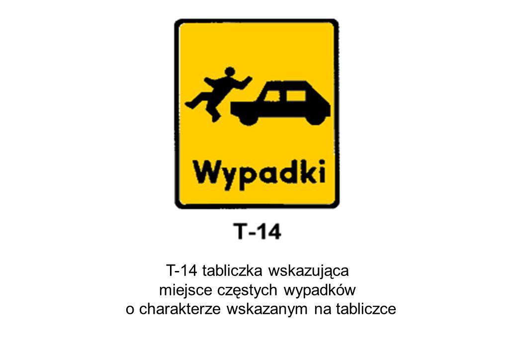T-14 tabliczka wskazująca miejsce częstych wypadków