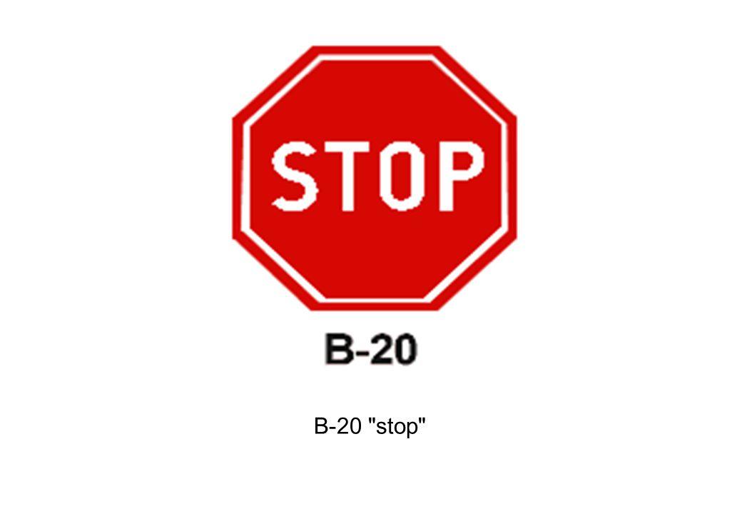 B-20 stop