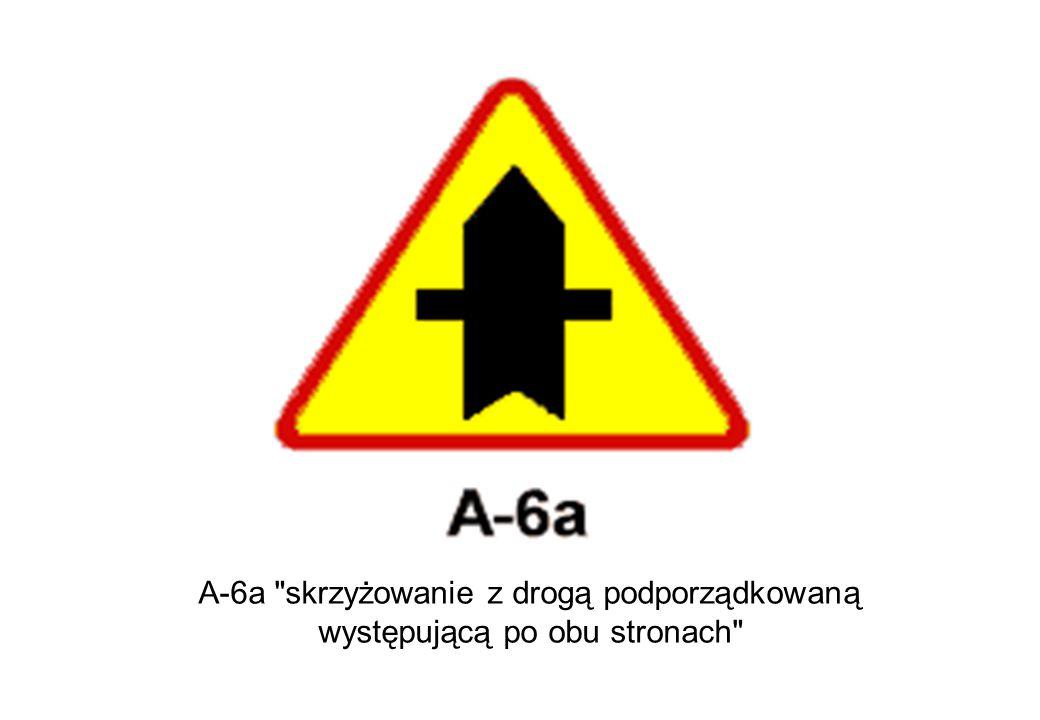 A-6a skrzyżowanie z drogą podporządkowaną
