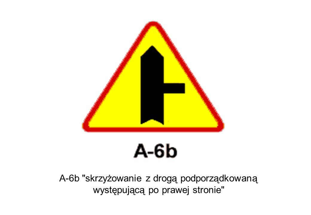 A-6b skrzyżowanie z drogą podporządkowaną