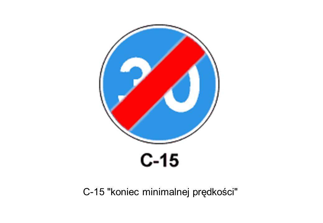 C-15 koniec minimalnej prędkości