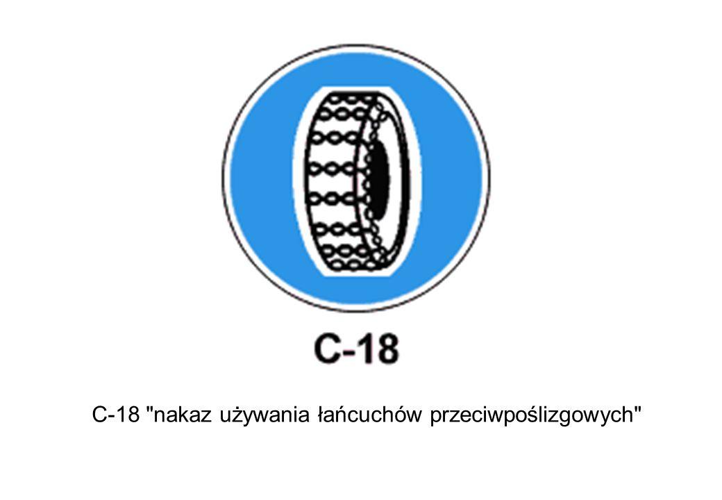 C-18 nakaz używania łańcuchów przeciwpoślizgowych