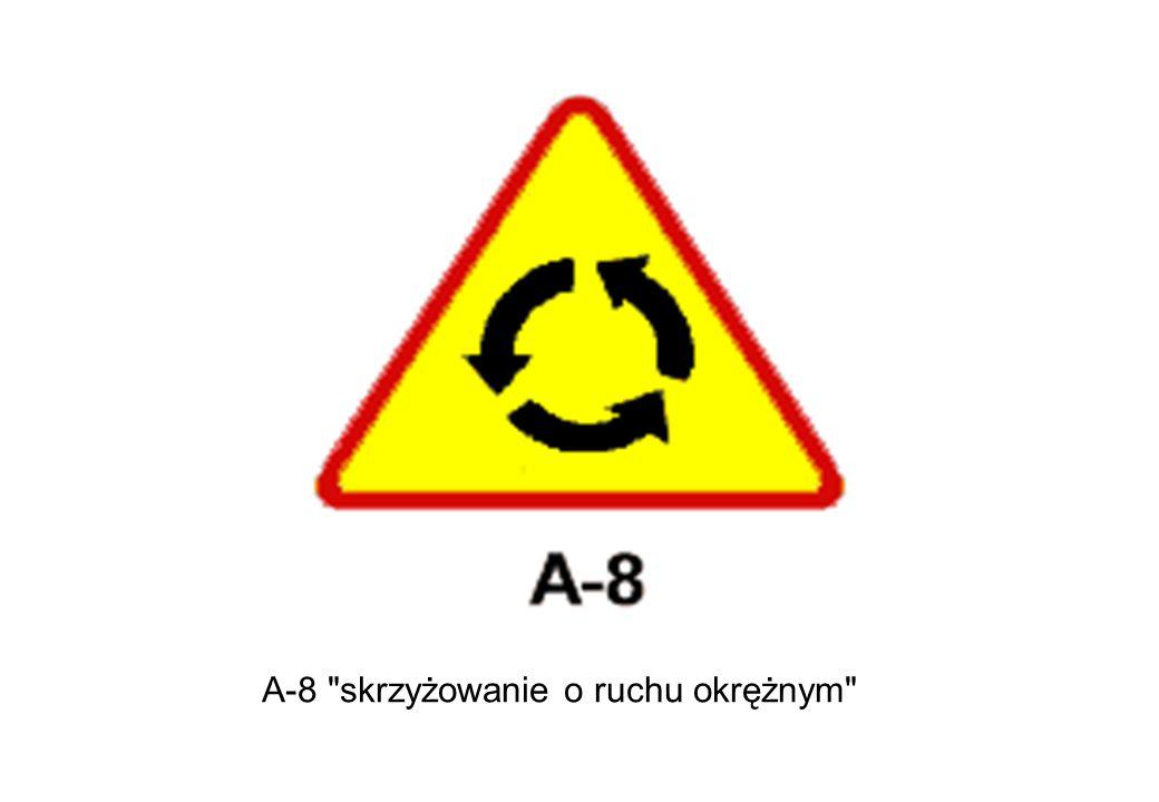 A-8 skrzyżowanie o ruchu okrężnym
