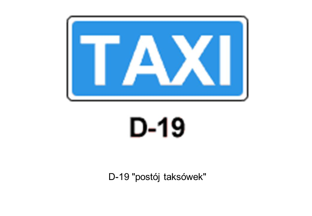 D-19 postój taksówek